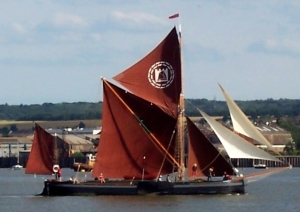 Lady of the Lea taking part in the 2010 Thames Barge Match