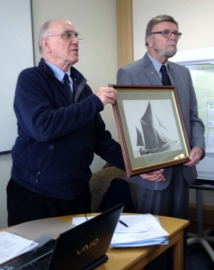 Tony Farnham presents picture to Cambria Trust at AGM 2015